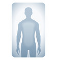Silhouetted man vector image
