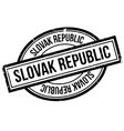 Slovak Republic rubber stamp vector image vector image
