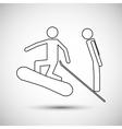 snowboard sport design vector image vector image