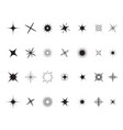 stars sparkles sign symbol set decoration element vector image vector image
