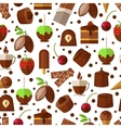 Sweets and candies chocolate ice cream seamless vector image vector image
