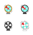 wheel of fortune or luck roulette spinning icon vector image