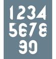 White handwritten numbers doodle brushed figures vector image