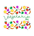 world vegetarian day background concept vector image vector image