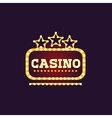 Yellow Casino Square Neon Sign vector image vector image
