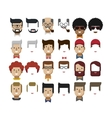 set avatars male faces design vector image