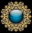Background round frame made of precious stones vector image
