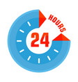 24 hours open blue vector image vector image