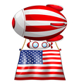 A floating balloon with the American flag vector image vector image