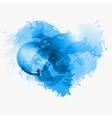 Abstract Watercolor heart vector image vector image