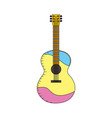 Acoustic guitar play music instrument