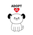 adopt me dont buy contour sitting dog silhouette vector image vector image