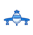 airplane line icon vector image vector image