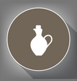 amphora sign white icon on vector image vector image