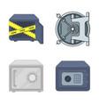 and safe logo collectio vector image