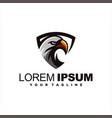 awesome shield eagle logo design vector image vector image
