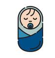 baby sleeping icon design clip art color icon