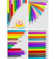 backgrounds with crayons vector image vector image