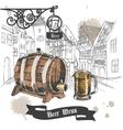 Beer bar menu poster vector image vector image