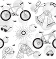 Bicycles seamless background vector image