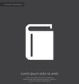 book premium icon vector image vector image