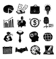 Business Icons Black And White Set vector image vector image