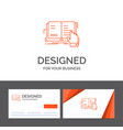 business logo template for book lesson study vector image