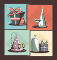 carnival set collection icons vector image vector image