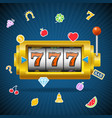 casino concept slot machine and falling color vector image