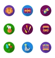 Circus set icons in flat style Big collection of vector image vector image