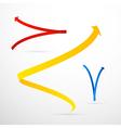 Colorful 3d Arrows Set vector image vector image
