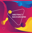 colorful abstract modern background template vector image