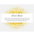 Confetti celebration vintage gold postcard vector image vector image