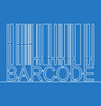 continuous one single line drawing barcode concept vector image vector image