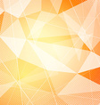 Crystal orange hi-tech modern background layout vector image