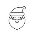 cute santa claus emoticon line design vector image