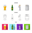 design of pub and bar icon set of pub and vector image