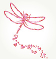 Dragonfly decal vector image vector image