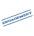Engagement Watermark Stamp vector image