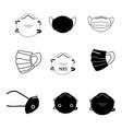face mask set set various face mask medical vector image