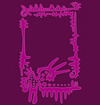 fantasy ornamental frame lilac color vector image