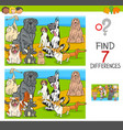find differences game with dog characters vector image vector image