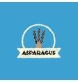 flat icon design collection asparagus vector image