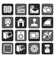 Flat Internet Computer and mobile phone icons vector image vector image
