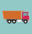 flat of truck vector image