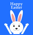 funny easter rabbit vector image vector image