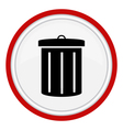 Garbage can icon vector image vector image