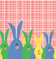 Happy Easter Card with Cute Bunnies vector image vector image