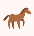 happy horse cartoon smiling farm animal cartoon vector image