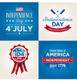 happy independence day usa cards fonts vector image vector image